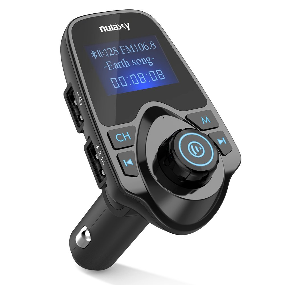 FM Transmitter, Nulaxy Wireless Bluetooth FM Transmitter Car Kit Radio Receiver