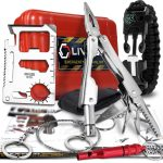 LIVABIT First Aid Safety Tool F.A.S.T. Kit [Venom Sting Extractor - or - SOS Survival Multi Tool Pack - or - T1K Emergency LED Flashlight Kit]