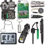 Survival Kit EMDMAK Outdoor Emergency Gear Kit with Emergency Survival Tent for Camping Hiking Travelling or Adventures from EMDMAK