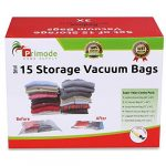 Primode Space Saver Vacuum Storage Bags, 15 Count Value Pack – Saves Space & Protects Clothing Easy-to-Use (Set of 15)