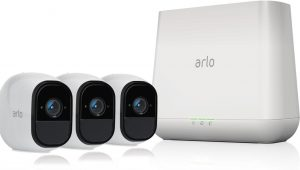 Arlo Pro Security System with Siren-3 Rechargeable Wire-free HD Cameras with Audio, Indoor/Outdoor, Night Vision from NETGEAR