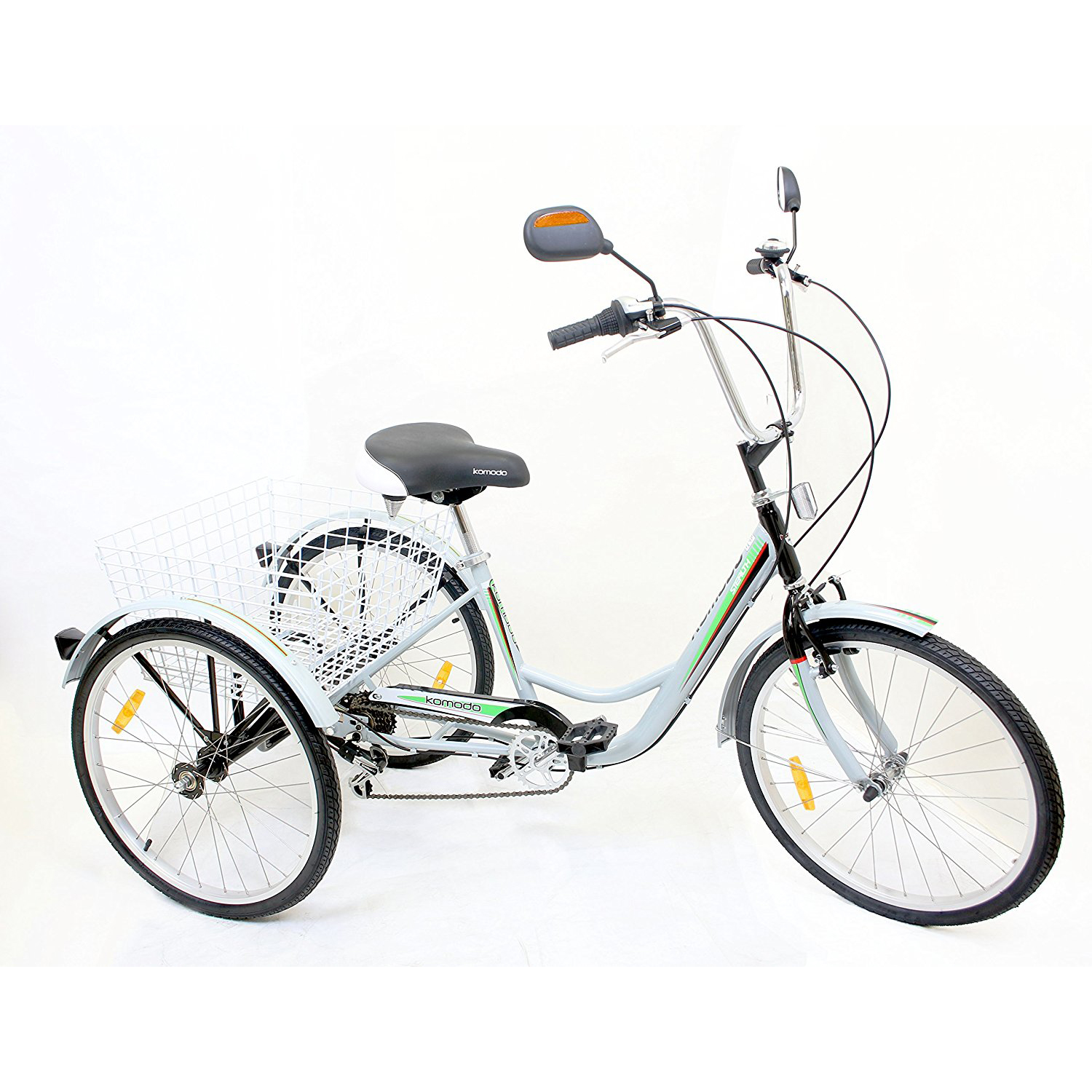 "Komodo Cycling ATSTEALTH 24"", 6-speed Adult Tricycle 7004 – Stealth"