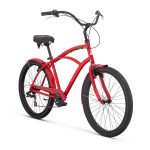 "Raleigh Bikes Retroglide 7 Men's Cruiser Bike, 26""/One Size, Red"